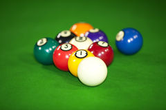 Billiard game situation Royalty Free Stock Photo