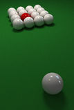 Billiard game with a square of white balls Stock Images