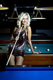 Billiard girl Stock Photo