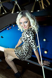 Billiard girl Stock Image