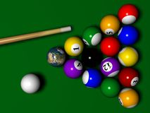 Billiard with Globe instaed of one ball Stock Images