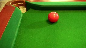 Billiard good shot stock footage