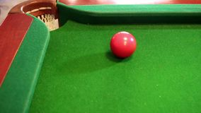 Billiard good shot stock video