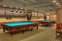 Billiard hall. In the popular bizness-centre, Kirghizia Stock Photo