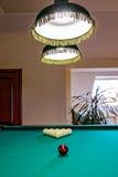 The billiard hall on a mansard floor Stock Photos
