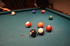 Billiard. The image of billiard, cue sports royalty free stock photography