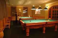 Billiard interior in  billiard club Stock Images