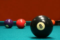 Billiard-Kugeln stockbilder