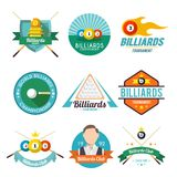 Billiard Label Set Stock Photography
