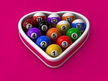 Billiard love Stock Photography