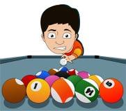 Billiard man Royalty Free Stock Images