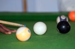 A billiard pool table. Billiard match in the Tanzania, Africa royalty free stock image