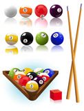Billiard_objects Fotografie Stock