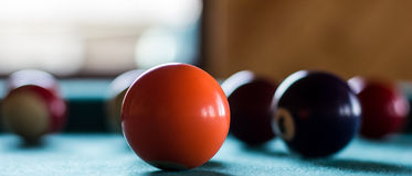 Billiard orange ball. Stock Images