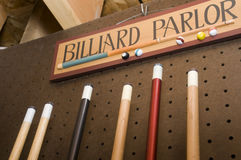 Billiard Parlor Sign Stock Image