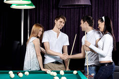 Billiard party Royalty Free Stock Images