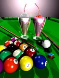 Billiard party Stock Image