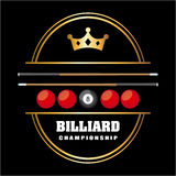Billiard play design Royalty Free Stock Image