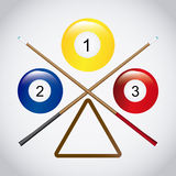 Billiard play design Royalty Free Stock Images