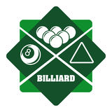 Billiard play design Stock Images
