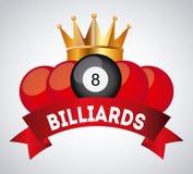 Billiard play design Stock Image
