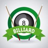 Billiard play design Stock Photos