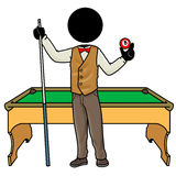 Billiard player Stock Image