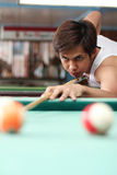 Billiard player Royalty Free Stock Images