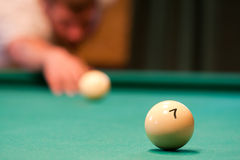 Billiard player Stock Photos