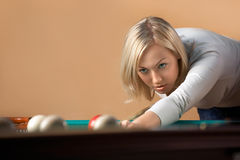 The billiard player Stock Image