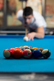 The Billiard Player Royalty Free Stock Photos