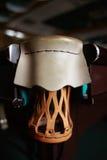 Billiard pocket close up. Vintage pocket. Leather billiard pocket close up Royalty Free Stock Photos