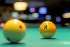 Billiard/Pool- 9 ball game Royalty Free Stock Image