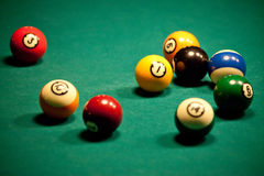 Billiard - pool balls Stock Images