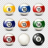 Billiard,pool balls collection for snooker. Transparent background. Vector illustration. Billiard,pool balls collection for snooker. Transparent background vector illustration