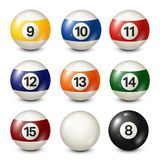 Billiard,pool balls collection for snooker. White background. Vector illustration. Billiard,pool balls collection for snooker. White background. Vector royalty free illustration