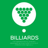 Billiard/pool balls icon triangle Stock Photography