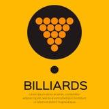 Billiard/pool balls icon triangle Royalty Free Stock Photo