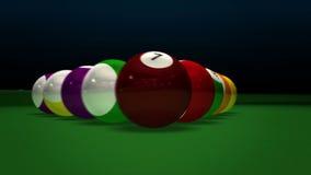 Billiard Pool Break Royalty Free Stock Photography