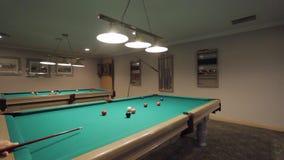 Billiard Pool, dolly shot stock video