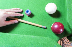 Billiard, pool game concept. Stock Photo