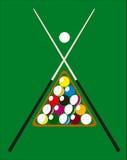 Billiard pool illustration Stock Image