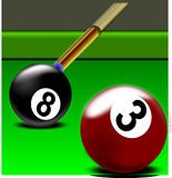 Billiard, Pool, Rack, Cue, Snooker Stock Photography
