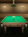 Billiard or pool table in luxurious interior Stock Images