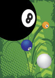 Billiard poster. Abstract vector illustration Stock Images