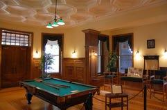 Billiard-Raum im Boldt Schloss stockfotografie