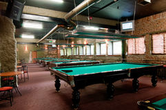 Billiard room Royalty Free Stock Photo