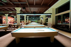 Billiard room Royalty Free Stock Image