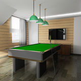 Billiard room Stock Image