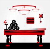 Billiard in room Stock Image